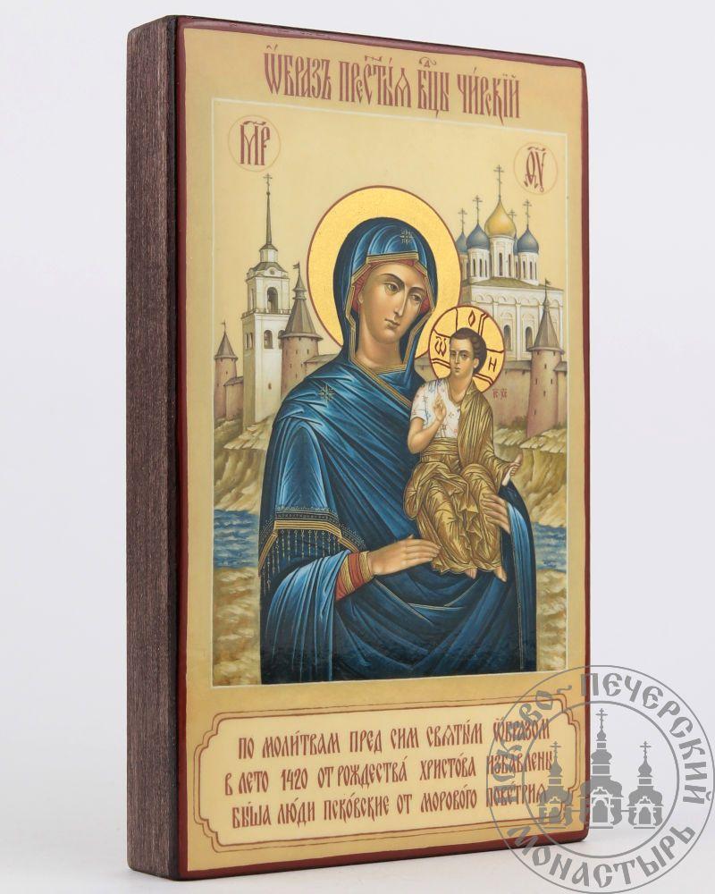 Чирская (Псковская) икона Божией Матери (с видом) [ИПП-915]